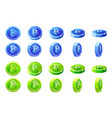 animation rotation blue and green 3d vector image vector image