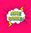 awesome comic cartoon vector image vector image