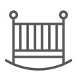 baby crib line icon child and bed vector image vector image
