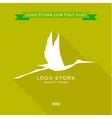 Bird the style polygon low poly flat trend vector image vector image