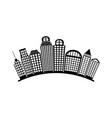 black silhouette city landscape with buildings vector image vector image