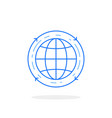 blue globe icon like air travel vector image vector image