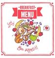 Breakfast Sketch Menu vector image