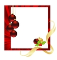 christmas red vector image vector image