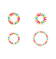 circle flower icon logo template vector image vector image