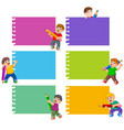 collection blank note with children vector image vector image
