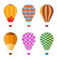 Colorful Air Balloon Set vector image vector image