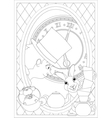Coloring Page Alice in Wonderland Mad tea party vector image vector image