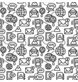 communication seamless pattern vector image