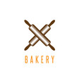 crossed rolling pins bakery design template