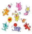 cute kittens set vector image vector image