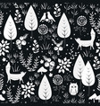 cute seamless pattern with forest vector image vector image