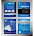 Design template blue set vector image