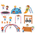 doodle character at playground vector image