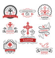 easter sale and premium quality badge set vector image vector image