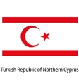 Flag the country turkish republic of northern vector image vector image