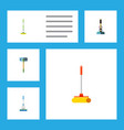 flat icon cleaner set of besom cleaning cleaner vector image vector image