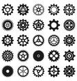 gears transmission cog wheels and machine vector image