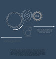 gears with on the grey background infographic vector image vector image