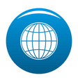 global icon blue vector image