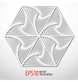 Hexagonal paper 3d design Sacral geometry Mystery vector image vector image
