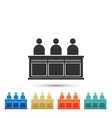 jurors icon isolated on white background vector image vector image