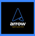 letter a line top arrow logo vector image