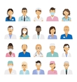 Medical staff icons vector image vector image
