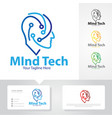 mind tech logo designs vector image