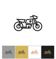 motorcycle icon electric bike sign or motorbike vector image vector image