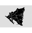 nicaragua map - high detailed black map with vector image vector image