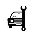 old vintage junk car vehicle automobile repair vector image vector image