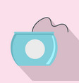 open dental floss box icon flat style vector image