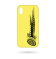 phone cases tire tracks pattern vector image vector image