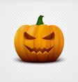 realistic halloween pumpkin vector image vector image