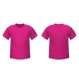 Realistic pink t-shirt vector image vector image