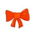 red bow isolated on white Cartoon style vector image