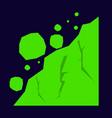 rockfall icon flat of rockfall icon for web vector image vector image