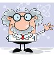 Scientist cartoon vector image vector image
