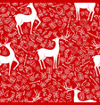 seamless pattern for christmas on a red vector image vector image