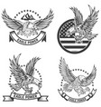 set coat arms with eagles design elements vector image
