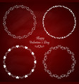 set of 4 circle cute frames for the st valentine vector image vector image