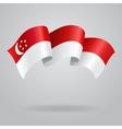 Singapore waving Flag vector image