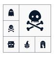 skull icon halloween set simple sign vector image