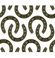 steel horseshoe seamless pattern vector image