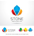 stone logo template vector image