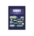 summer poster summer days trendy seasonal vector image vector image