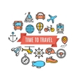 Travel Concept Card vector image vector image