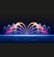 water lights fountain vector image vector image