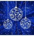 xmas paper balls vector image vector image